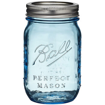 Ball Canning Jar W/Lid 6/Pkg-Pint, Heritage Collection Blue