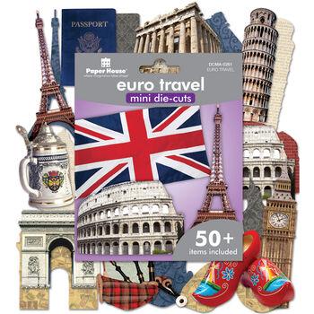 Paper House Mini Die Cuts Euro Travel