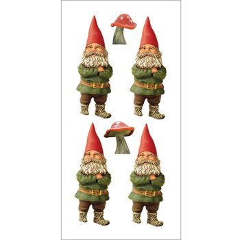 Gnomes -paper House Stickers