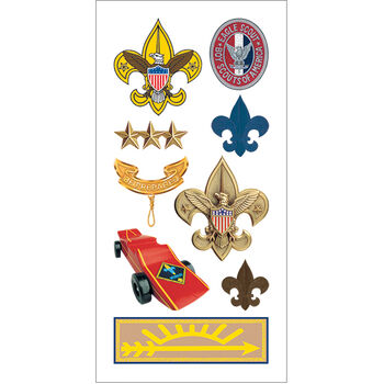 Boy Scouts-paper House Stickers