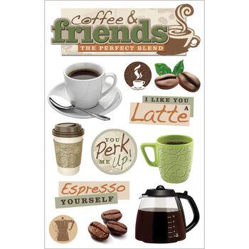 Coffee Tlk-3d Stickers