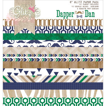 Glitz Design Dapper Dan Double-Sided Paper Pad
