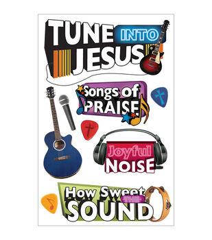 Paper House 3-D Sticker Tune Into Jesus
