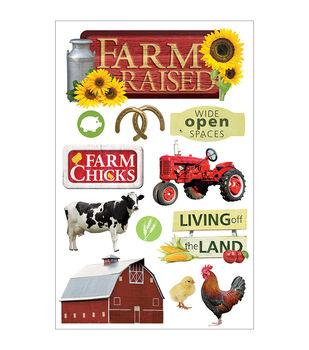 Paper House 3-D Sticker Farm Raised