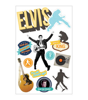 Paper House 3-D Sticker Elvis