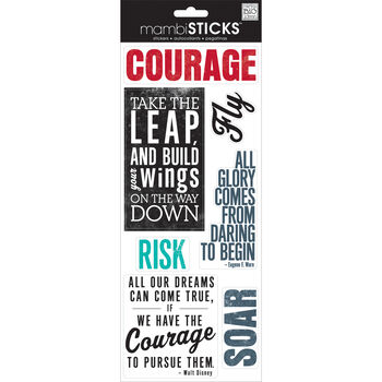 Me & My Big Ideas Sayings Stickers Courage
