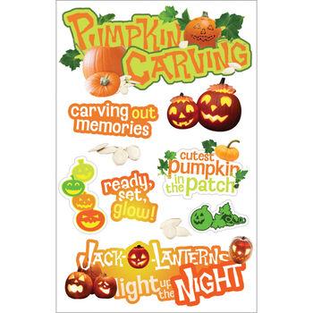 Paper House 3-D Sticker Pumpkin Carving