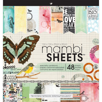 Me & My Big Ideas Mambi Sheets Specialty Cardstock Paper Mixed Media