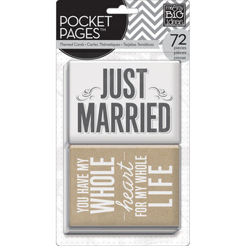 Me & My Big Ideas Pocket Pages Themed Cards Wedding