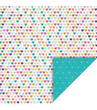 Queen & Co Girl Double-Sided Cardstock Paper Pinwheel Heart