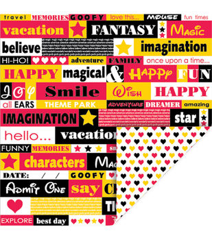 Queen & Co Magic Double-Sided Cardstock Phrases Hearts
