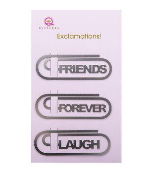 Metal Exclamations! Clips 3/Pkg-Friends