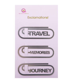 Metal Exclamations! Clips 3/Pkg-Travel