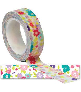 Girl Trendy Tape 15mm X 10yds-Flowers