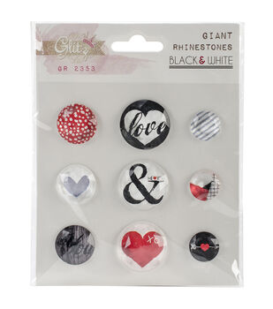 Glitz Design Giant - Black/White Rhinestone