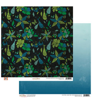 "Floral - 77 Double-sided Heavy Weight Paper 12""x12"""