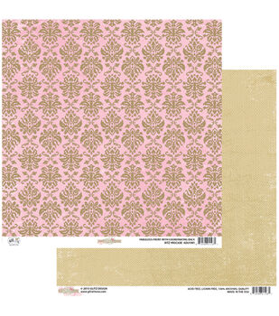 "Brocade - All Dolled Up Double-sided Heavy Weight Paper 12""x12"""