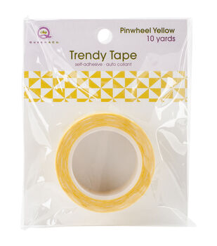 Trendy Tape Core Collection 15mmX10yd-Pinwheel Yellow