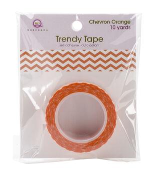 Trendy Tape Core Collection 15mmX10yd-Chevron Orange