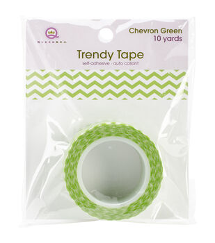 Trendy Tape Core Collection 15mmX10yd-Chevron Green