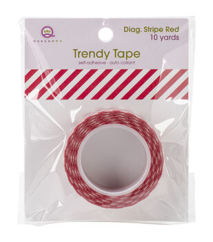 Trendy Tape Core Collection 15mmX10yd-Diagonal Stripe Red