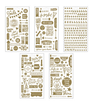 Me & My Big Ideas Pocket Pages Clear Stickers 5 Sheets/Pkg-Friends
