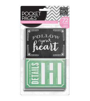 """Me & My Big Ideas Pocket Pages Themed Cards 3""""X4"""" 72/Pkg-Follow Your Heart"""