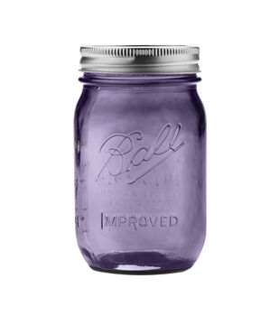 Ball Jar Heritage Collection Purple Regular Mouth Pint Size Jar