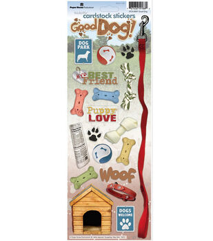 Paper House Cardstock Stickers-Good Dog