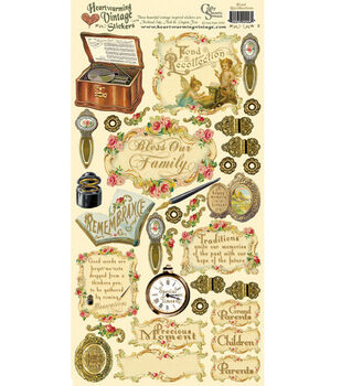 Heartwarming Vintage Cardstock Stickers-Fond Recollections