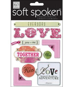 Me & My Big Ideas Soft Spoken Embellishments-Notebook-Love