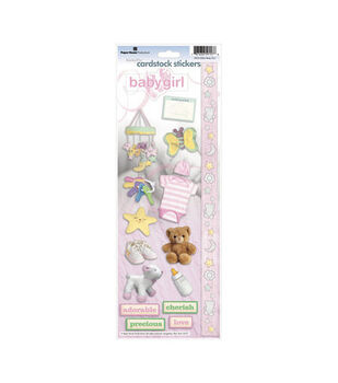 Paper House Cardstock Stickers-Baby Girl
