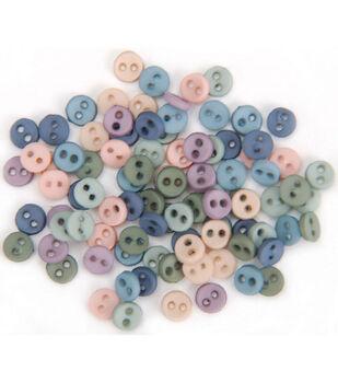 Dress It Up Micro-Minis Button Embellishments-50PK/Romance