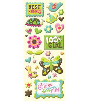 K & Company Mini Stickers-Best Friends