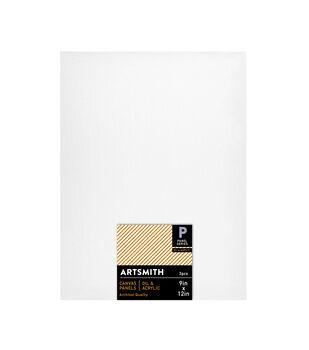9x12 Canvas Panels 3 Pack