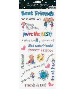 me & my BiG Ideas Friendship Sayings Stickers