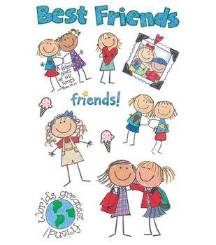 me & my BiG Ideas Minis Stickers-Best Friends