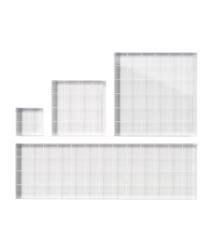 Fiskar Stamp Block 4/Set-W/Grids