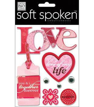 Me & My Big Ideas Soft Spoken Embellishments-Love