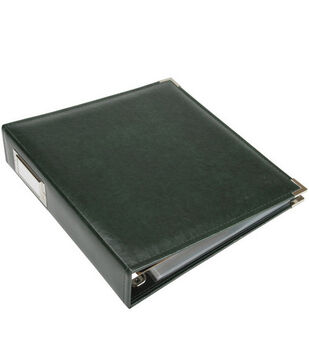 """We R Memory Keepers Faux Leather 3-Ring Binder 8.5""""X11"""""""