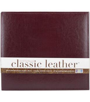 """We R Classic Leather Post Bound Album 12""""X12"""""""