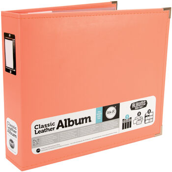 """Classic Faux Leather 12"""" 3-Ring Binder Album"""