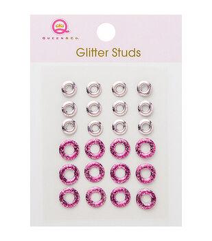 Self-Adhesive Glitter Studs 24/Pkg Lifesaver