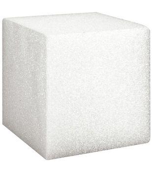 Floracraft 5''x5''x5'' Styrofoam Cubes-12PK/White
