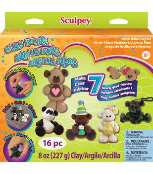 Sculpey Clay Activity Kit-Clay Bears