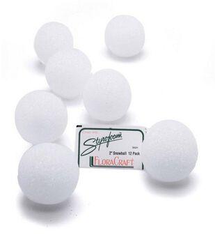 Styrofoam 2'' Balls-12PK/White