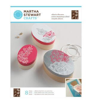 "Martha Stewart Adhesive Silkscreen 8-1/2""X11"" 1 Sheet/Pkg-Wildflowers 8 Designs"