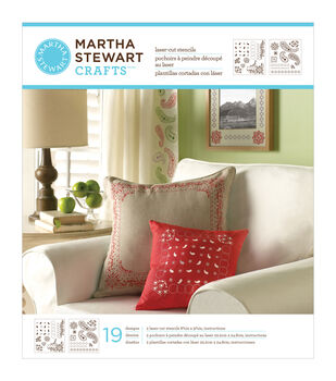 "Martha Stewart Medium Stencils 2 Sheets/Pkg-Bandana Paisley 8-3/4""X9-3/4"" 19 Designs"