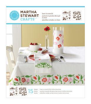 """Martha Stewart Medium Stencils 2 Sheets/Pkg-Flower Vines 8-3/4""""X9-3/4"""" 15 Designs"""