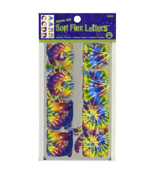 Dritz Soft Flex Iron-On Letters-Tie Dye